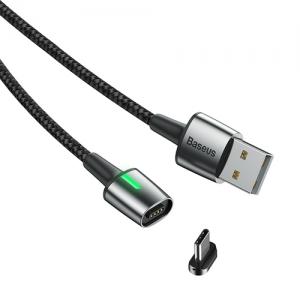 電材堂 マグネットケーブル USB-Type-C 長さ1m ブラック DCATXC-A01