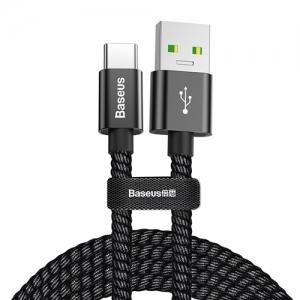 電材堂 USBケーブル USB-Type-C 急速充電対応 長さ1m ブラック DCATKC-A01
