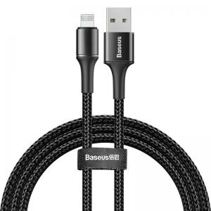 電材堂 USBケーブル データケーブルUSB for iP 2.4A 1m ブラック DCALGHB01