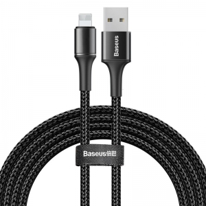 電材堂 USBケーブル データケーブルUSB for iP 1.5A 2m ブラック DCALGHC01