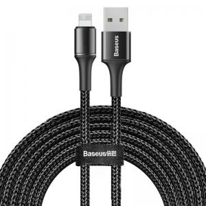 電材堂 USBケーブル データケーブルUSB for iP 2A 3m ブラック DCALGHE01