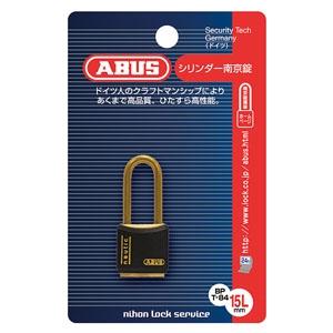 ABUS 【ケース販売特価 5個セット】真鍮南京錠 T84MBシリーズ ブリスターパック 15mm 樹脂カバー付 BP-T84MB/15L