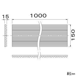KANTO 防振ゴム エアコン用 150mm×1m 防振ゴム エアコン用 150mm×1m BG-150 画像2
