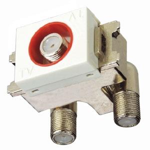 マスプロ 直列ユニット 電源挿入型 中継用 IN・OUT端子可動型 壁面埋込・シールド型 3224MHz対応 DWK10D-B