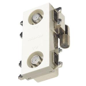 マスプロ 直列ユニット 端末用ダミー付 IN・OUT端子可動型 壁面埋込・シールド型 3224MHz対応 2DWKR-B