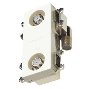 マスプロ 直列ユニット 端末用ダミー付 IN・OUT端子可動型 シールド型 上り帯域カットフィルタースイッチ付 3224MHz対応 2DWKR-SW-B
