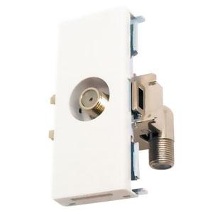 マスプロ 直列ユニット 中継用 IN・OUT端子可動型 壁面埋込・シールド型 3224MHz対応 DWK7S-B