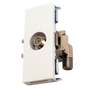 マスプロ 直列ユニット テレビ端子 IN・OUT端子可動型 壁面埋込・シールド型 3224MHz対応 DWK7ST-B