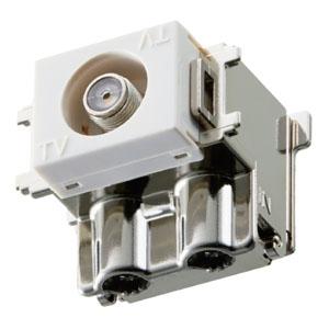 マスプロ 直列ユニット 中継用 直付型 壁面埋込・シールド型 3224MHz対応 DCM7WS-B