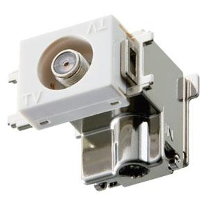 マスプロ 直列ユニット 端末用ダミー付 直付型 壁面埋込・シールド型 3224MHz対応 DCM7WR-B