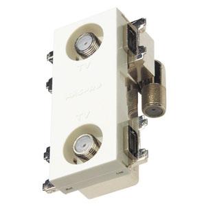マスプロ テレビ端子 IN端子可動型 BL型 2端子型・3個口用 シールド型 3224MHz対応 SH-77FS