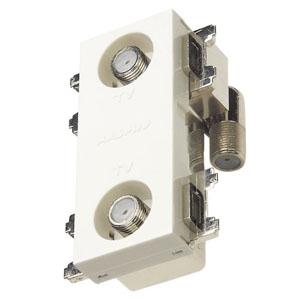 マスプロ 直列ユニット 中間用 IN・OUT端子可動型 BL型 2端子型 シールド型 2600MHz対応 CS-77F-7SWE