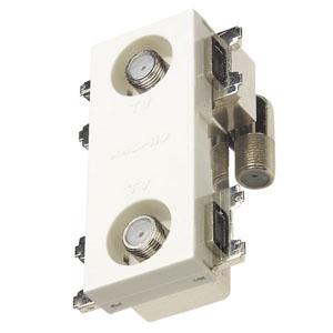 マスプロ 直列ユニット 端末用 IN・OUT端子可動型 BL型 2端子型 シールド型 2600MHz対応 CS-77F-RSWE