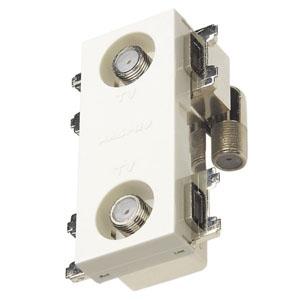 マスプロ 直列ユニット 中間用 IN・OUT端子可動型 BL型 2端子型 シールド型 2600MHz対応 CS-77F-7WE