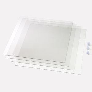 アーテック 飛沫防止十字型卓上パーテーション 正方形タイプ 両面保護フィルム付 051228