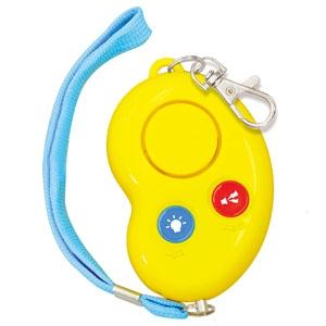 アーテック 防犯ブザー 《ビーンズⅡ》 電池式 防水型 ネックストラップ付 イエロー 003967