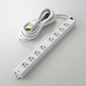 ELECOM 法人用タップ ハーネスタップ 8口 抜け止めなし 3m TWHRM3830NN/RS