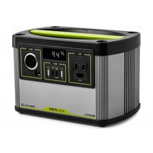 GoalZero YETI 200X 120V power station 大容量187Whリチウムイオン電池ポータブル電源 22070