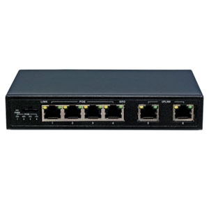 マザーツール 4chPOEスイッチングハブ サージ保護機能付 MT-POE04