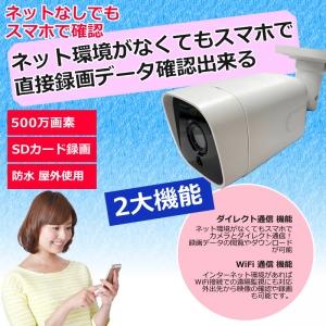 足立商事 SDカード録画防犯カメラ 500万画素 ワイヤレス VFバレット型カメラ SDカード録画防犯カメラ 500万画素 ワイヤレス VFバレット型カメラ ADS-WF500AVFWP 画像2