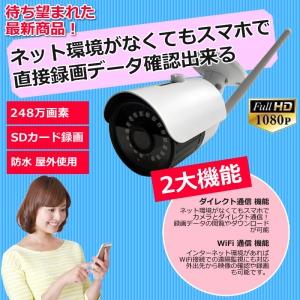 足立商事 SDカード録画防犯カメラ 屋外 ワイヤレス バレット型カメラ SDカード録画防犯カメラ 屋外 ワイヤレス バレット型カメラ ADS-WF1080P36TF 画像2
